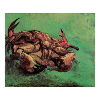 Crab on Its Back by Vincent van Gogh Poster