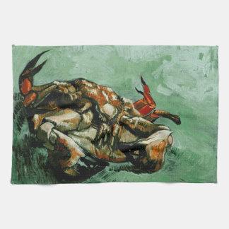 Crab on Its Back (F605)Van Gogh Fine Art Tea Towel