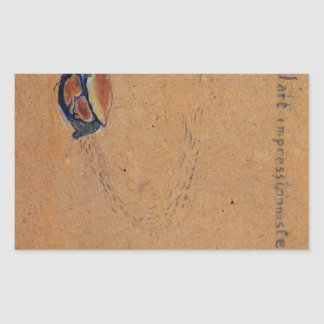 Crab on the sand by Toulouse-Lautrec Sticker