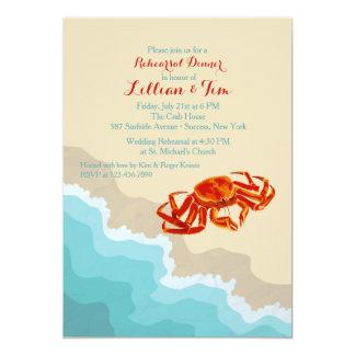 Crab on the Shore Invitation