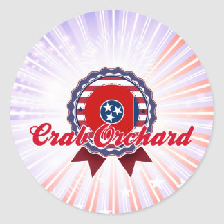 Crab Orchard, TN Round Stickers