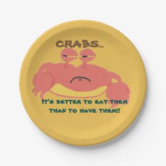 Crab paper plates