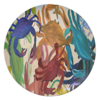 Crab Party Art Plate