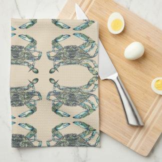 Crab Pattern Tea Towel