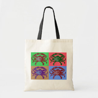 Crab Pop Art Tote Bag
