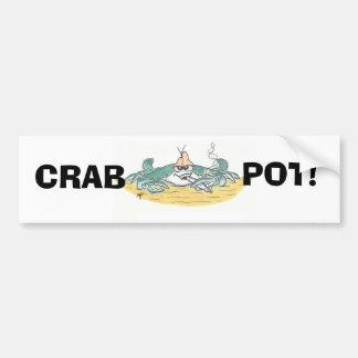 Crab Pot Bumber Sticker Bumper Sticker