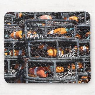 Crab Pots Stacked for Fishing Mouse Mat