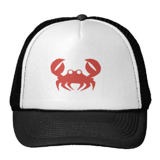 Crab print cap