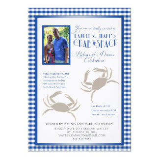 Crab REVISED with quotes 5x7 Paper Invitation Card