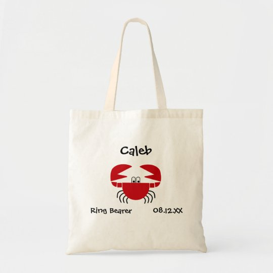 Crab Ring Bearer Personalised Tote Bag