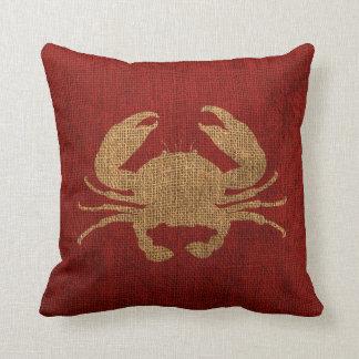 Crab Rustic Red Cushion