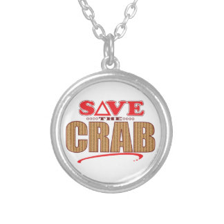 Crab Save Silver Plated Necklace