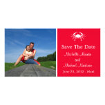 Crab Save The Date Photocard (Red) Photo Cards