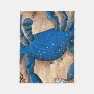 Crab, Scallop and Starfish Fleece Blanket