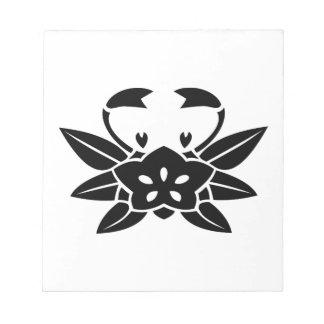 Crab-shaped gentian memo note pad
