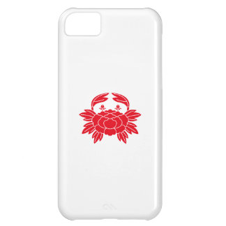 Crab-shaped peony iPhone 5C case