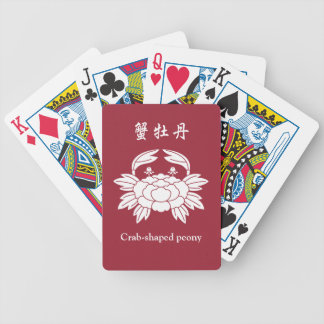 Crab-shaped peony bicycle playing cards