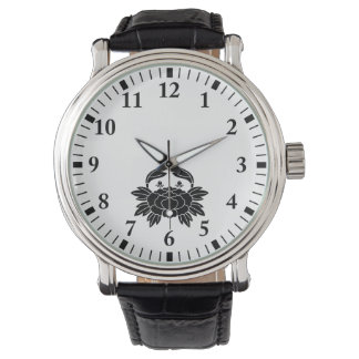 Crab-shaped peony wrist watch