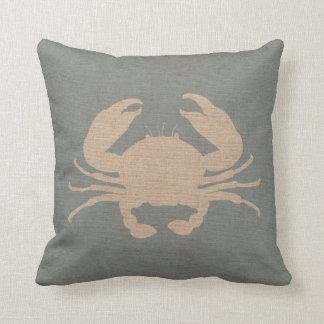 Crab Shell Beach Blue Cushion
