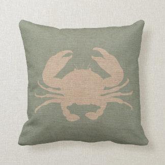 Crab Shell Seafoam Green Cushion
