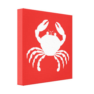 Crab silhouette gallery wrapped canvas