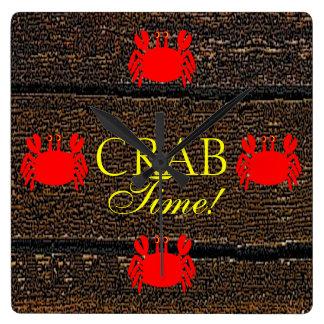 Crab Square Wall Clock