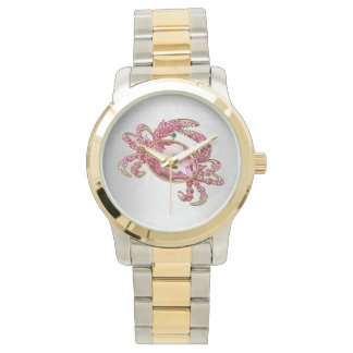 Crab Star Sign Cancer Pink Diamond look glam Watches