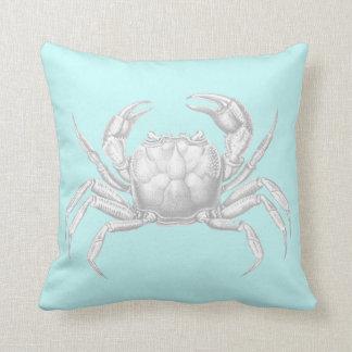 Crab Throw Cushion in Light Blue