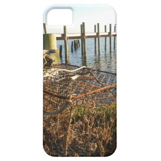Crab Trap and Dock at Sunset iPhone 5 Covers