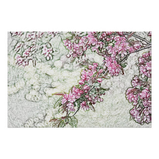 Crabapple branches poster