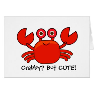 Crabby? But Cute!/Cartoon Red Crab Birthday Card