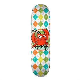 Crabby; Colorful Argyle Pattern Skateboards