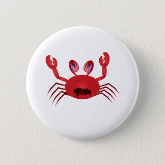 Crabby Crab 6 Cm Round Badge