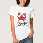 crabby crab gifts and apparel tee shirt