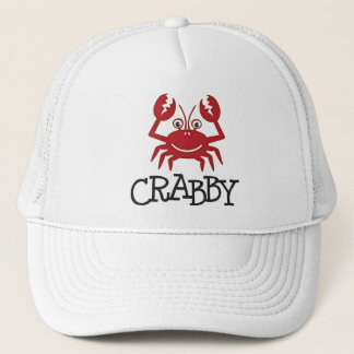 crabby crab gifts and apparel trucker hat