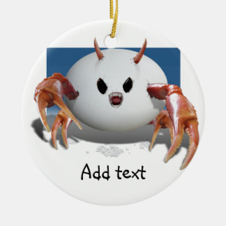 Crabby Egg Double-Sided Ceramic Round Christmas Ornament