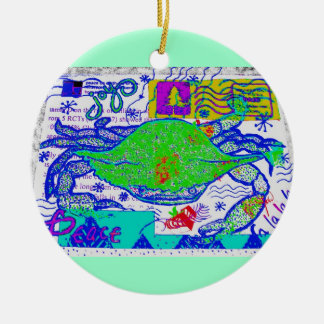 Crabby Holiday Collage Christmas Ornament