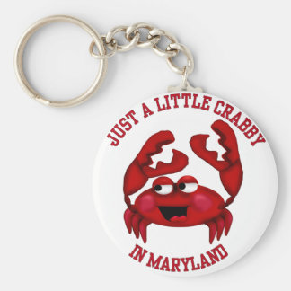 Crabby in Maryland Key Ring
