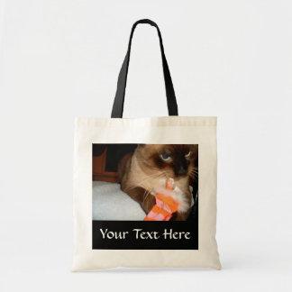 Crabby Siamese Cat Tote Bag