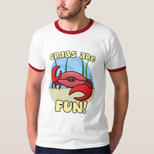 Crabs are Fun Ringer TShirt