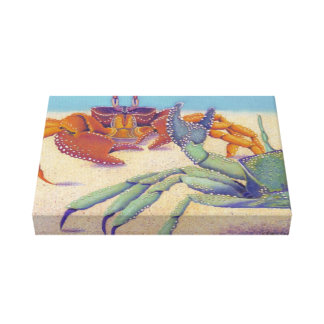 crabs stretched canvas print
