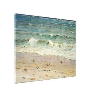Crabs on the Beach - Howard Hitchcock Stretched Canvas Print