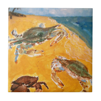 Crabs on the beach tile