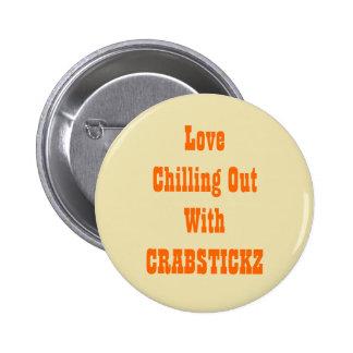 Crabstickz Fan Page 6 Cm Round Badge