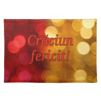 Crăciun fericit! Merry Christmas in Romanian rf Cloth Placemat
