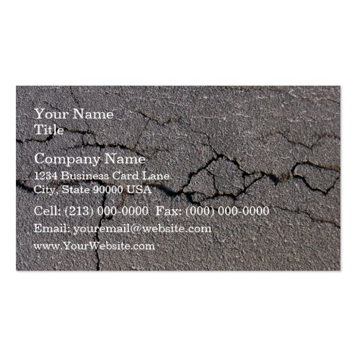 Crack in the ground in detail business card templates