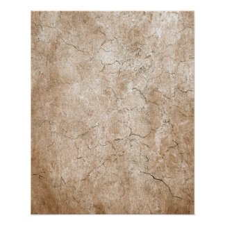 Cracked Aged and Rough Brown Vintage Texture Poster