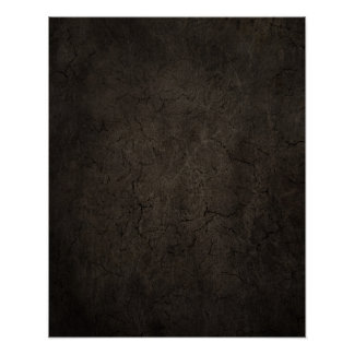 Cracked Aged and Rough Dark Brown Vintage Texture Poster