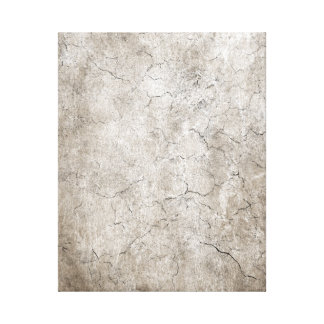 Cracked Aged and Rough Gray Vintage Texture Stretched Canvas Print
