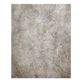 Cracked Aged and Rough Gray Vintage Texture Poster